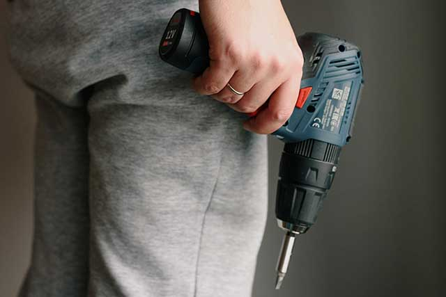 man with drill
